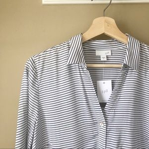 J. Jill Tops - NWT J. Jill | Mixed Striped Shirttail Tunic